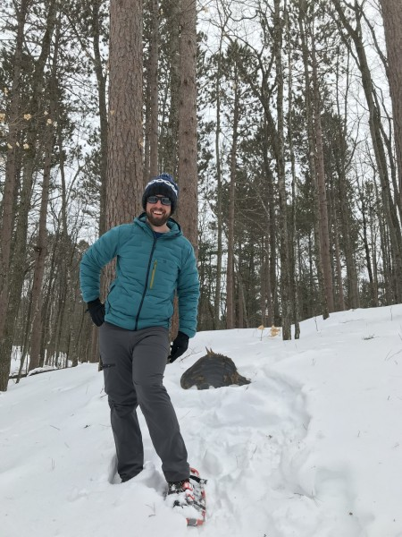 Paul posing on WI trail
