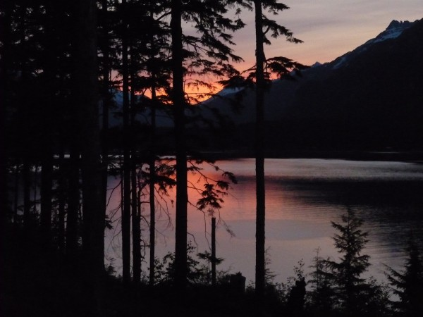 Sunset over Lutak Inlet & Chilkoot Lake