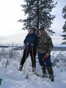 Christmas Day Snowshoeing