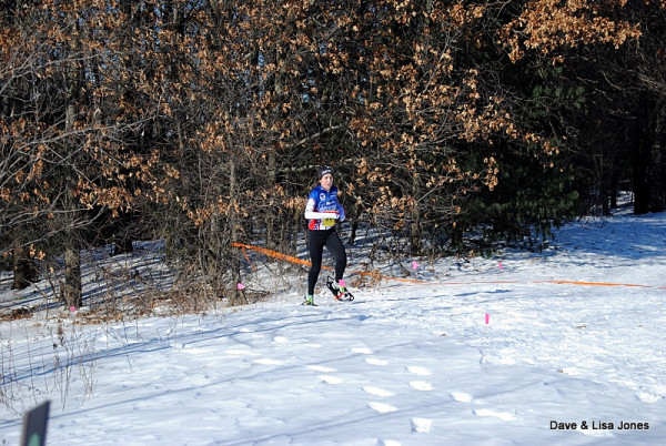 Jeanette Cudney exiting the woods shows her speed leading to Junior Women's gold but also fifth overall for all Junior racers.