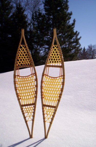 Ojibwe snowshoes- traditional snowshoe type