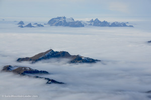Glacier 3000 is a high point with views over the parts of the alps, today below 2000m they're stuck in cloud