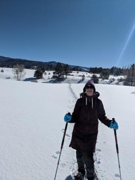 woman posing on trail