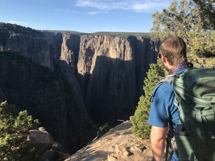 looking out towards the black canyon with the scree 32