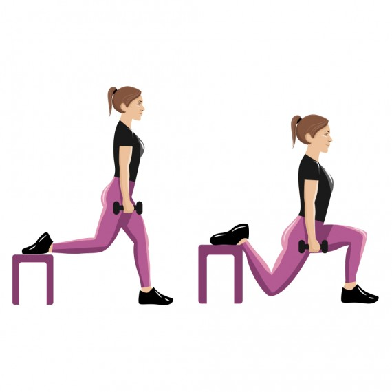 Bulgarian Split Squat Exercise