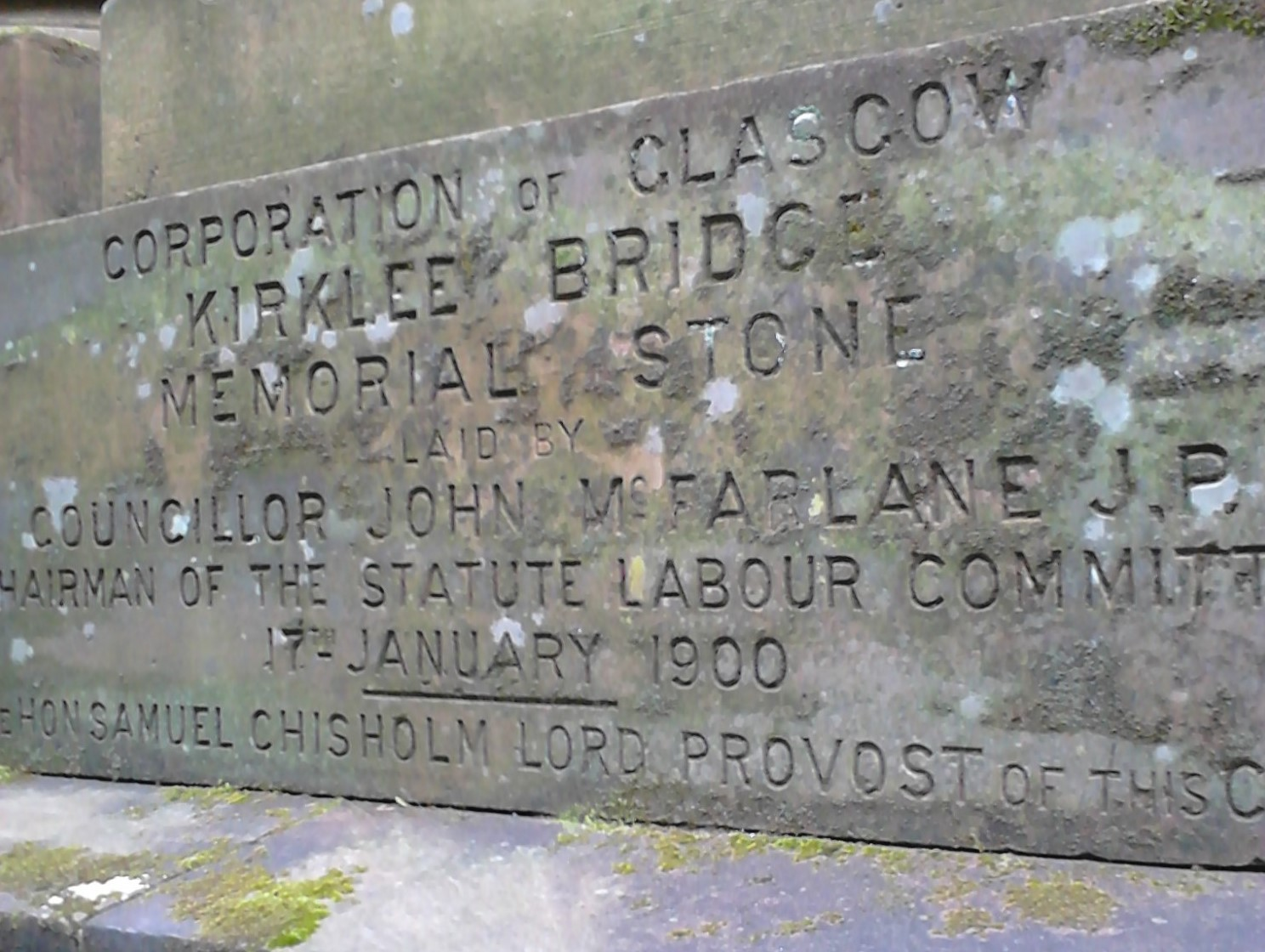 Glasgow Botanic Gardens, Kirklee Bridge Memorial