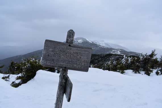 Crawford Path sign, New Hampshire