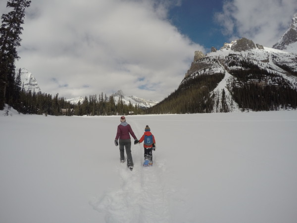 Spring Snowshoeing at Lake O'Hara