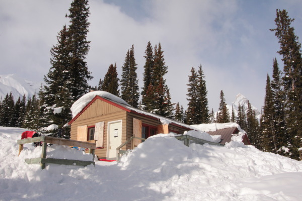 Our favorite winter cabin is a 10 min. hike from the highway