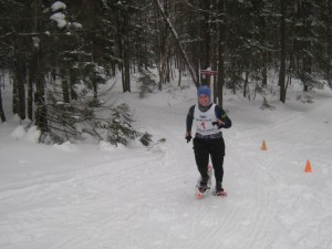 Colleen Porter was all smiles as she headed for the home stretch.