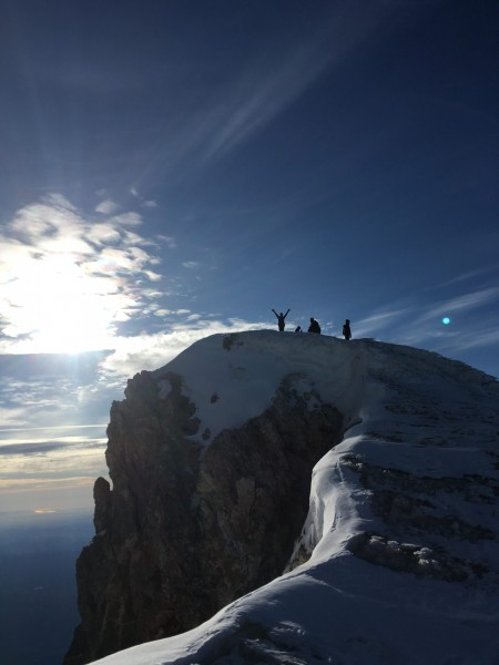 Summiting Mt Hood