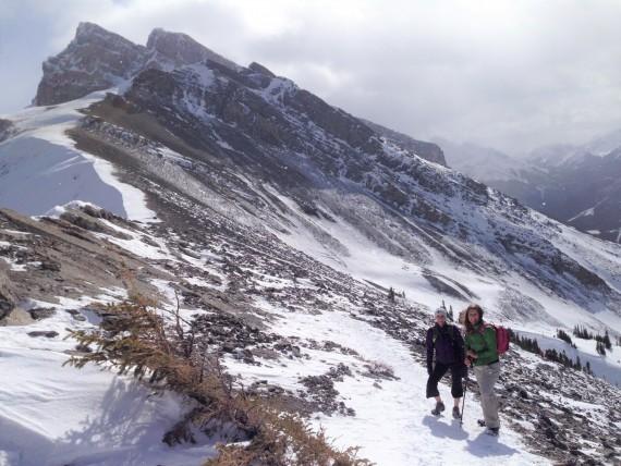 Ha Ling Trail winter hike, Canmore, Alberta