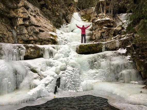 Upper Falls winter trail, Kananaskis, Alberta