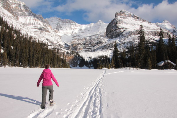 You can hike or ski across the lake. Beyond that, you will be with a guide at all times.
