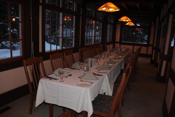 The Lake O'Hara dining room