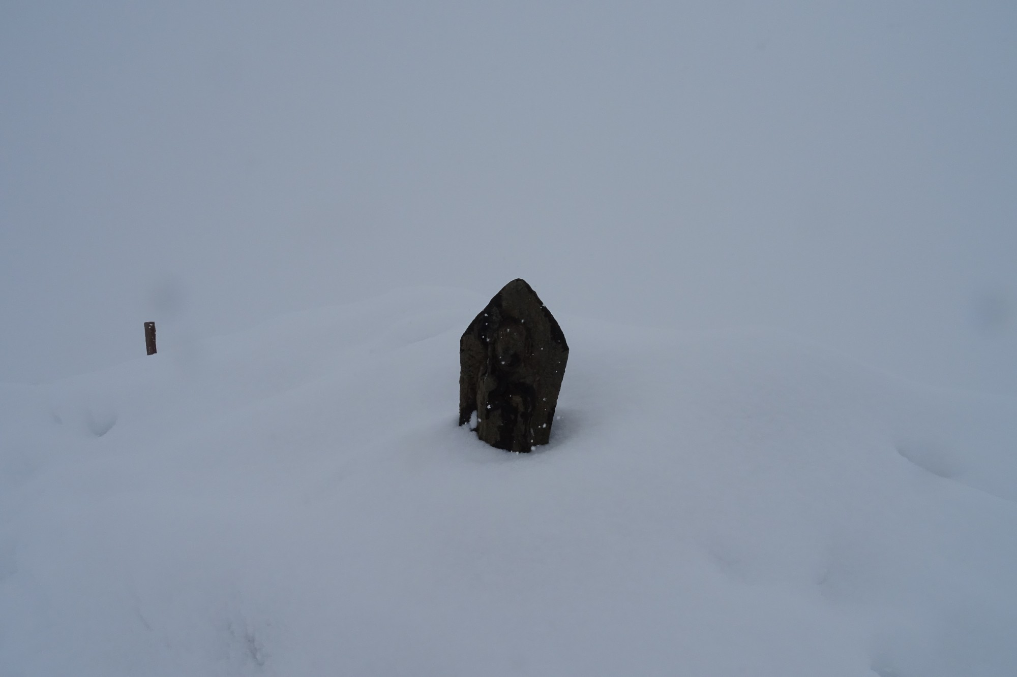 jizo in the snow, Happo Ridge Trail