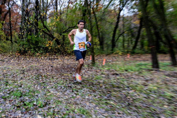 Kurt Keiser set a blistering pace in the 50 mile and finished over an hour ahead of the next competitor (photo by Bryan Cochran)