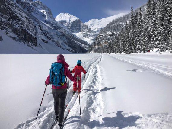 winter hiking Lake Louise, Alberta