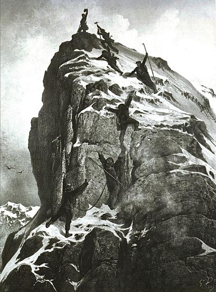 MatterhornGipfelBesteigungSeilriss - Archiv Zermatt Tourismus