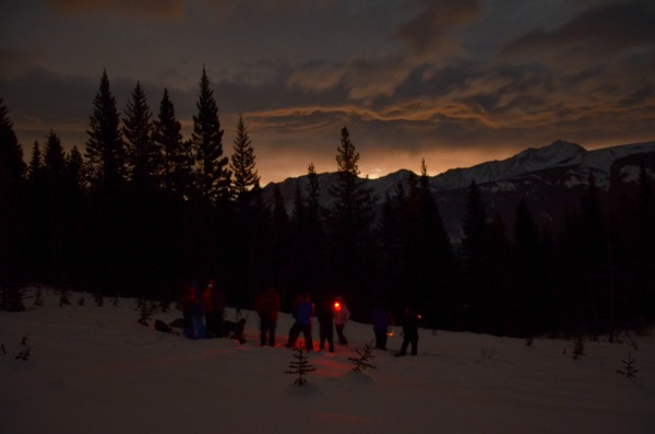Moonlit Snowshoeing in Kananaskis