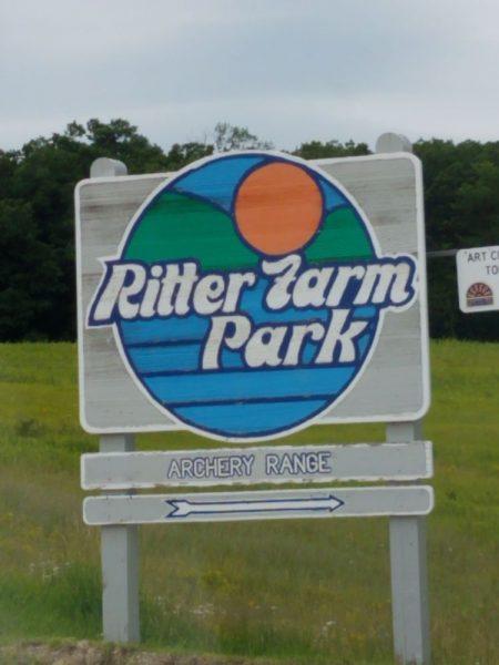 Ritter Farm Park sign