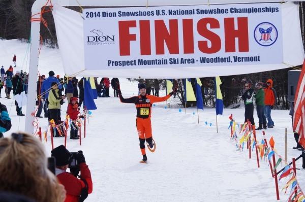 USSSA snowshoer finishing race, pre race anxiety