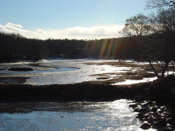 Laudholm Farm, Wells, snowshoeing coastal Maine