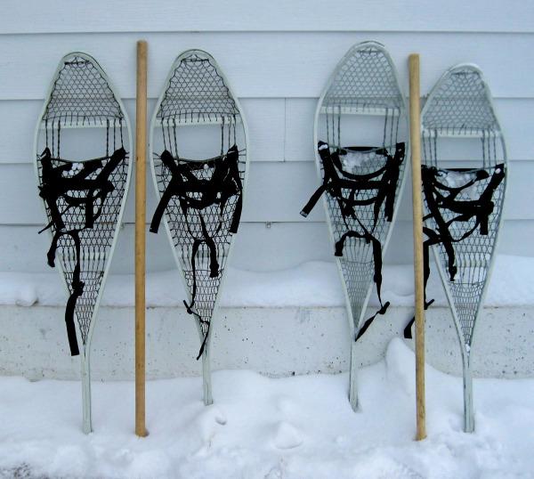 Arnprior Army surplus magnesium frame snowhoes.