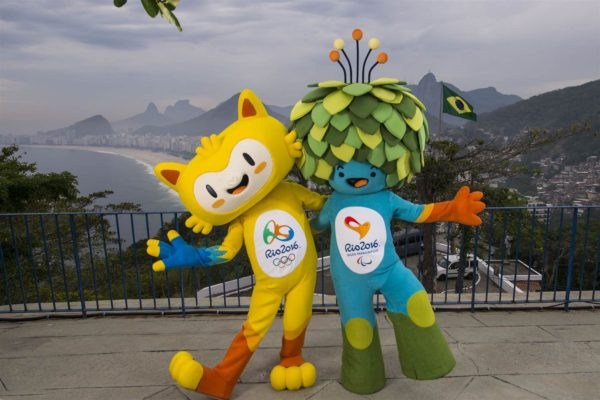 The mascots of the 2016 RIO Olympic and Paralympic Games
