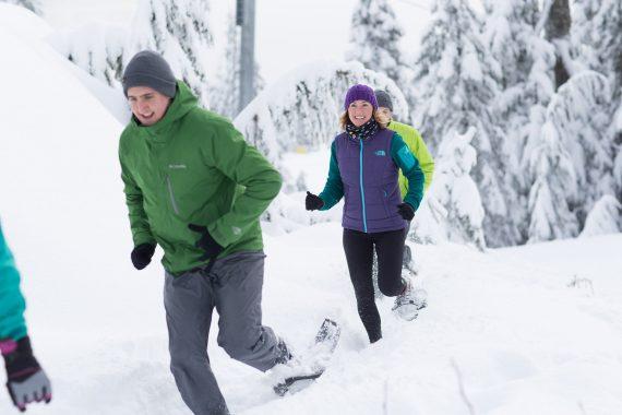 snowshoe running- Grouse Mountain