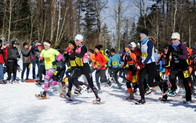 President's Fitness Challenge: snowshoe racers at the 2006 USSSA National Championships in Vermont