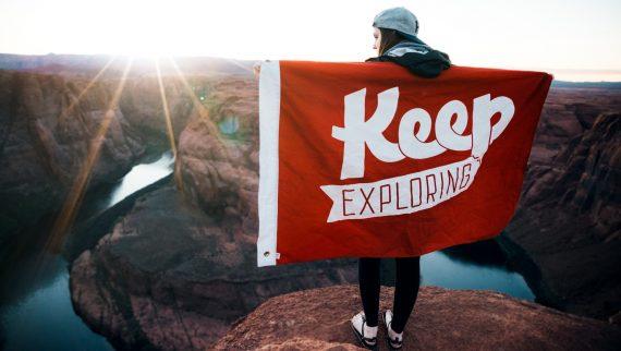 Keep exploring flag