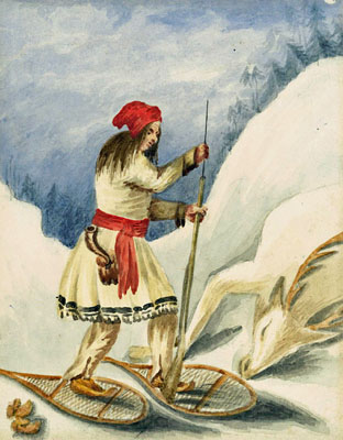 The hunter-gatherer roots of snowshoeing.