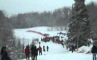 Start of the Women's 10K Race – The 2011 Dion Snowshoes USSSA National Snowshoe