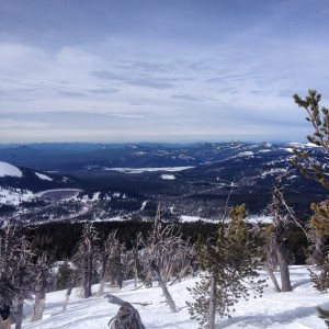 The view from the top of Tumalo Mountain