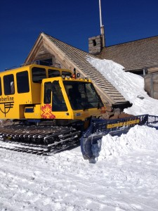 The Snowcat I rode up in parked at Silcox Hut