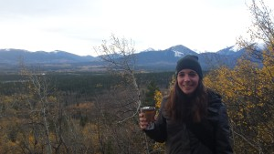 Coffee in hand! Not prepared enough for this hike!