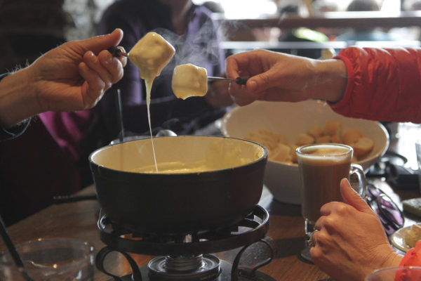 Fondue at Sunshine Village