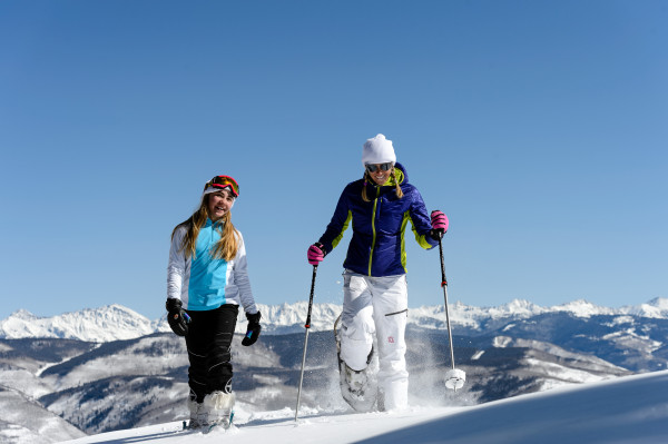 McCoy Park snowshoeing is a beautiful mountain adventure. Photo courtesy of Vail Resorts.