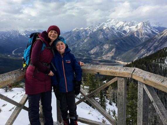 Posing on the gondola, Banff, Alberta