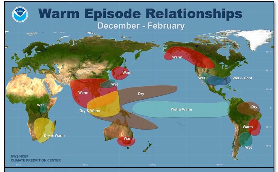 El Nino map | Snowshoe Magazine