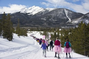 Snowshoe fun at the 2013 Romp to Stomp race.