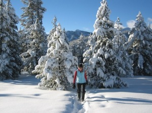 Snowshoeing at Galena Lodge.