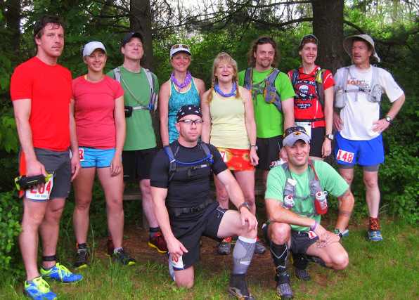 The Gnarly Bandit Series competitors at the start of this second race in the series (missing: Daryl Saari)