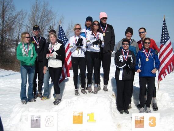 Medal ceremony, championships 2010