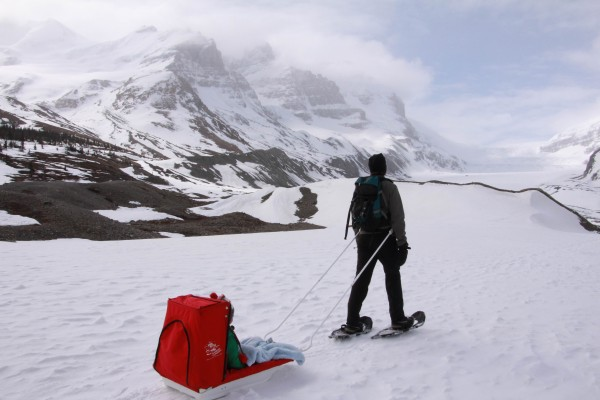Hiking to the Athabasca Glacier