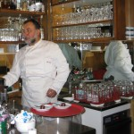 Chef at Swiss cafe in Guarda