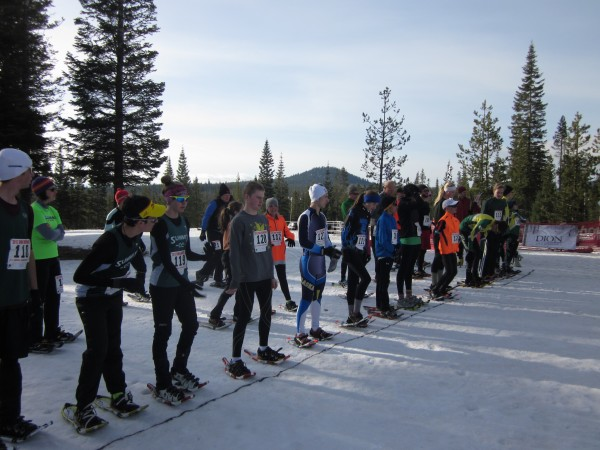 The junior racers in both age groups lined up with the citizen racers for the start of the 5K at the national competition March 16 in Central Oregon.