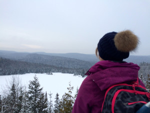 Taking in the view of Lac Soliatire in Mauricie National Park Jenn Smith Nelson