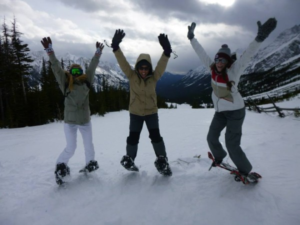 Snowshoeing at Fortress Mountain is beginner friendly and always exciting!